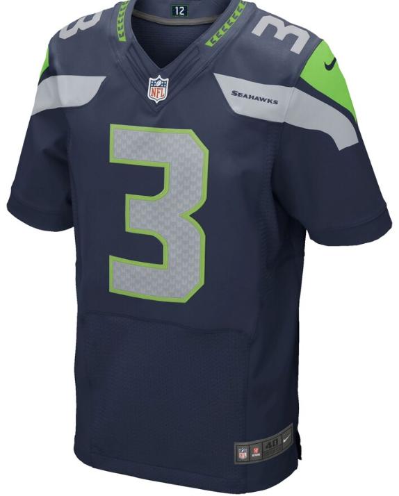 Russell Wilson Seahawks Nike Elite Jersey-Blue Edition